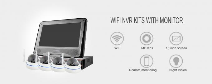 ONVIF Wireless IP Camera System High Resolution With 10.1 Inch Display