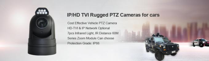 "4 In 1 Vehicle Mounted Rugged PTZ Camera With 1 / 3 "" SONY CCD Sensor"