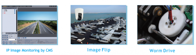 Car Roof Mobile Marine Security Cameras Sony Module 30X Optical Zoom IP Network