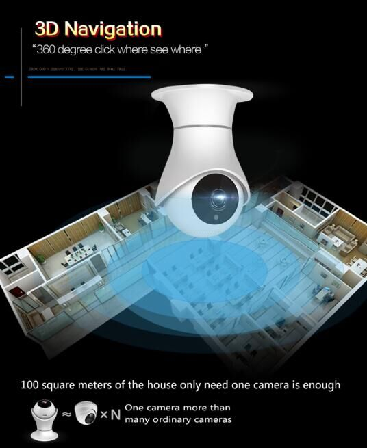 Wireless Security Full HD IP Camera Two Way Audio High Resolution With Alarm