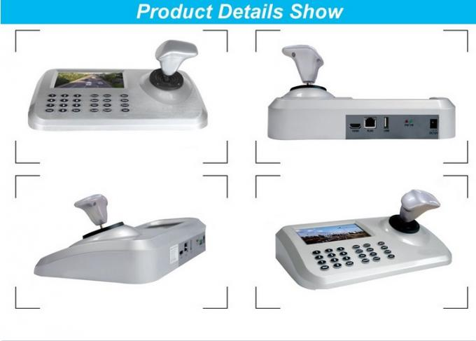 "IP ONVIF 2.4 PTZ Camera Controller Vector Variable Speed Joystick  With 5 "" LED Display"