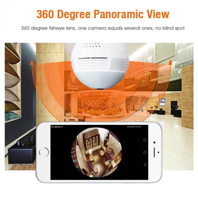 960P WiFi Full HD IP Camera Fisheye 360 ° Easy Setup Support Motion Detection