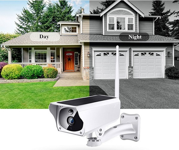 Outdoor Waterproof Full HD IP Camera Solar Panel Powered 2MP 1080P Pixel