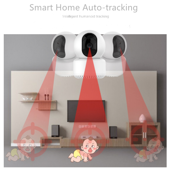 1080P HD Wireless IP Wifi Auto-tracking Smart Home PTZ Camera With Free 30-day Cloud Storage