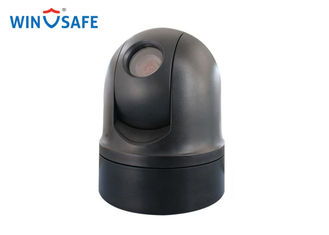 China WaterProof Black Rugged PTZ Camera Analog 360 Degree Small Size For Police Car supplier