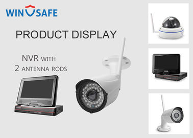 China Network Video Recorder NVR Wireless Security Camera System 20M IR Distance supplier