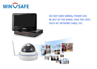 1.3MP Wireless Home Surveillance Systems 4 Channel NVR Kit 20M - 30M Infrared Distance