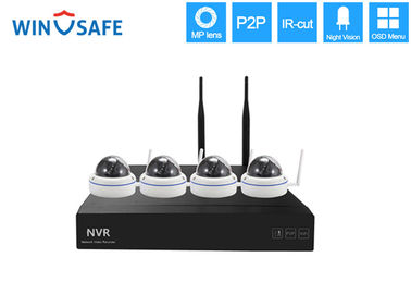 China 4 Channel Wireless IP Security Camera System , Internet Security Camera Systems For Home supplier