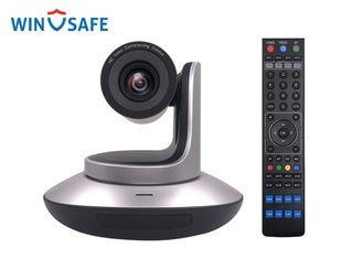 China Black / Silver HDMI & 3G-SDI & LAN & USB3.0 4K Ultra HD IP Video Camera With Remote Control For Board Room supplier