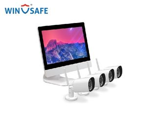 4pcs WiFi 720P/960P/1080P Wireless IP Camera System & 1pcs 4CH NVR with Monitor