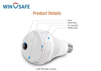 China 960P WiFi Full HD IP Camera Fisheye 360 ° Easy Setup Support Motion Detection supplier
