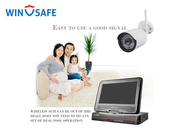China Network 1.3 Megapixel Wireless Outdoor Security Camera System With Monitor factory
