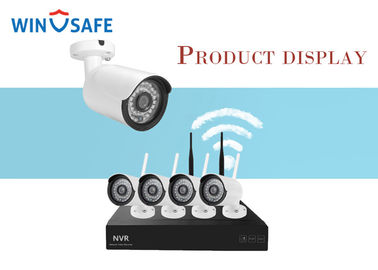 China Motion Detection 960P Wireless IP Camera System 4CH Wifi NVR Kit With 2Pcs Antenna factory