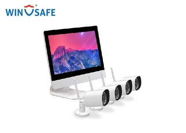 China 4pcs WiFi 720P/960P/1080P Wireless IP Camera System & 1pcs 4CH NVR with Monitor distributor