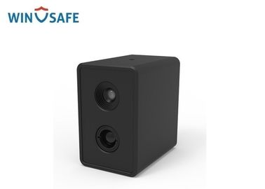 Black AI Dual Cam Full HD IP Camera Body Temperature Measurement Thermal System